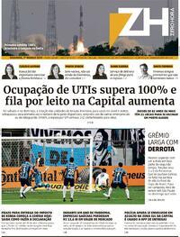 Capa do jornal Zero Hora 01/03/2021