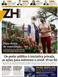 Capa do jornal Zero Hora 03/04/2021