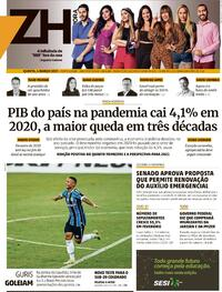 Capa do jornal Zero Hora 04/03/2021