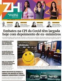 Capa do jornal Zero Hora 04/05/2021