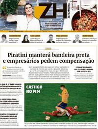 Capa do jornal Zero Hora 05/03/2021