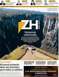 Capa do jornal Zero Hora 05/06/2021