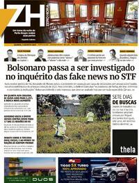 Capa do jornal Zero Hora 05/08/2021