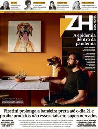 Capa do jornal Zero Hora 06/03/2021