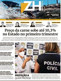 Capa do jornal Zero Hora 06/04/2021
