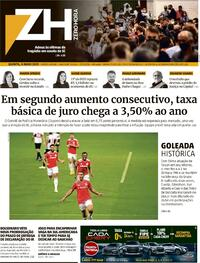 Capa do jornal Zero Hora 06/05/2021