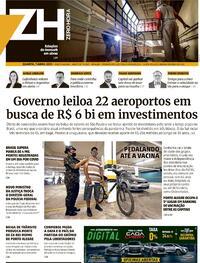 Capa do jornal Zero Hora 07/04/2021