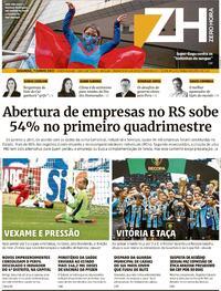 Capa do jornal Zero Hora 07/06/2021