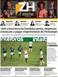 Capa do jornal Zero Hora 08/03/2021