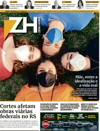 Capa do jornal Zero Hora 08/05/2021