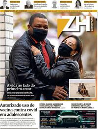Capa do jornal Zero Hora 12/06/2021