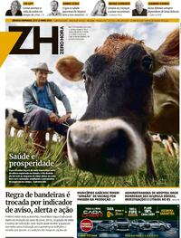 Capa do jornal Zero Hora 15/05/2021