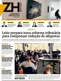 Capa do jornal Zero Hora 15/06/2021