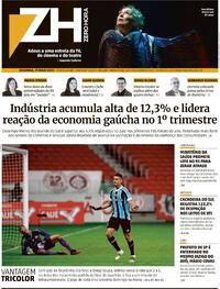 Capa do jornal Zero Hora 17/05/2021