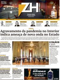 Capa do jornal Zero Hora 18/05/2021