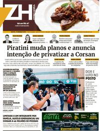 Capa do jornal Zero Hora 19/03/2021