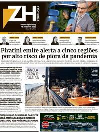 Capa do jornal Zero Hora 19/05/2021