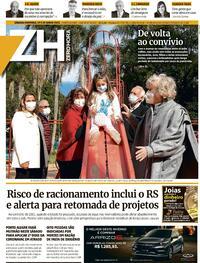 Capa do jornal Zero Hora 19/06/2021