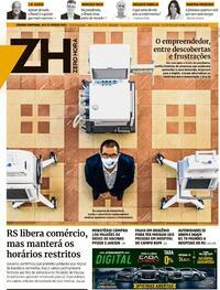 Capa do jornal Zero Hora 20/03/2021
