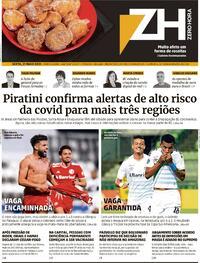 Capa do jornal Zero Hora 21/05/2021