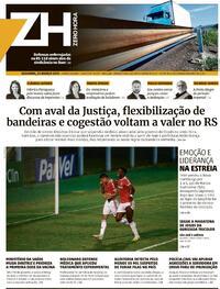 Capa do jornal Zero Hora 22/03/2021