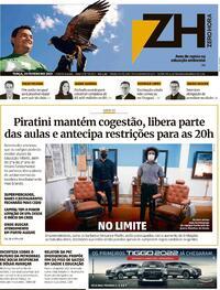 Capa do jornal Zero Hora 23/02/2021