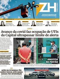Capa do jornal Zero Hora 24/02/2021