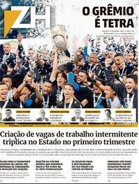 Capa do jornal Zero Hora 24/05/2021