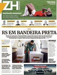 Capa do jornal Zero Hora 26/02/2021