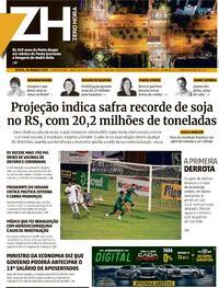 Capa do jornal Zero Hora 26/03/2021