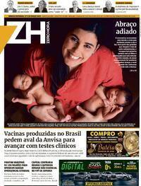 Capa do jornal Zero Hora 27/03/2021