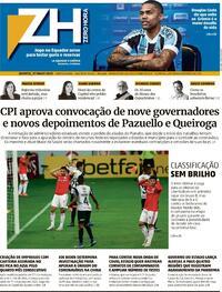 Capa do jornal Zero Hora 27/05/2021