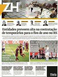 Capa do jornal Zero Hora 27/09/2021