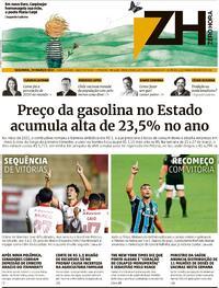 Capa do jornal Zero Hora 29/03/2021