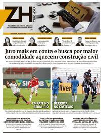 Capa do jornal Zero Hora 31/05/2021
